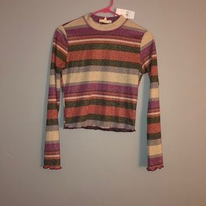 Pacsun long sleeve grey/purple shirt